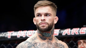 LAS VEGAS, NV - AUGUST 20: Cody Garbrandt waits for the start of his bantamweight bout against Takeya Mizugaki at the UFC 202 event at T-Mobile Arena on August 20, 2016 in Las Vegas, Nevada. Garbrandt won by first-round TKO. (Photo by Steve Marcus/Getty Images)