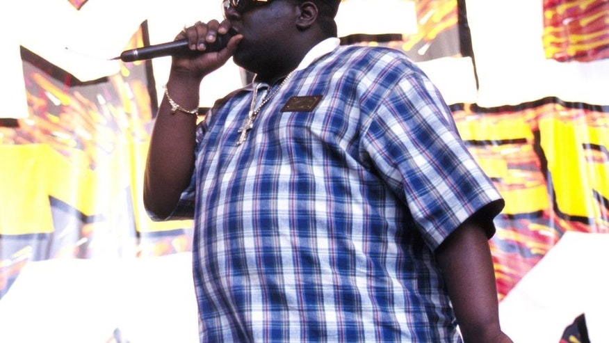 Notorious B.I.G. aka Biggie Small performing at KMEL Summer Jam 1995 at Shoreline Amphitheater in Mountain View CA on August 11th, 1995. Image By: Tim Mosenfelder/ImageDirect