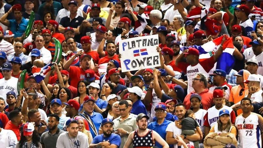 Mar 11, 2017; Miami, FL, USA; General view of fans during a game against the Dominican Republic and the USA during the 2017 World Baseball Classic at Marlins Park. Dominican Republic wins 7-5. Mandatory Credit: Logan Bowles-USA TODAY Sports