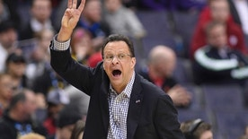 Indiana coach Tom Crean signals during the second half of the team's NCAA college basketball game against Wisconsin in the Big Ten tournament, Friday, March 10, 2017, in Washington. Wisconsin won 70-60. (AP Photo/Nick Wass)