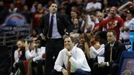 Iowa State head coach Steve Prohm reacts to a play during the second half of an NCAA college basketball tournament second-round game against Purdue Saturday, March 18, 2017, in Milwaukee. (AP Photo/Morry Gash)