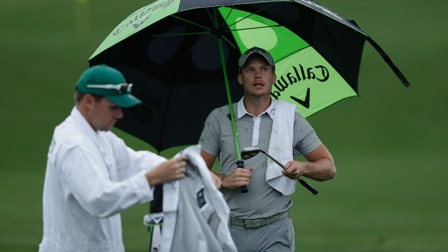Danny Willett, of England, watches on the driving range during practice for the Masters golf tournament Monday, April 3, 2017, in Augusta, Ga. (AP Photo/Matt Slocum)