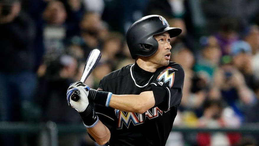 Ichiro homered in possibly his final at-bat in Seattle