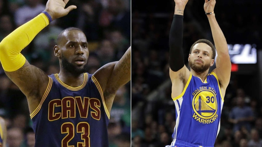 LeBron James and Stephen Curry meet for the third time in the NBA Finals.