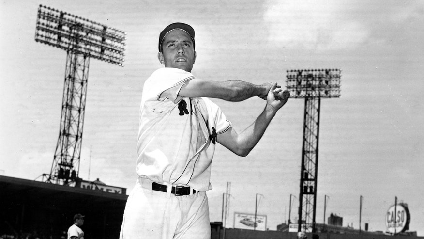 In this June 4, 1952, file photo, Jim Piersall of the Boston Red Sox poses at Fenway Park in Boston, Ma., before a game against the Cleveland Indians.