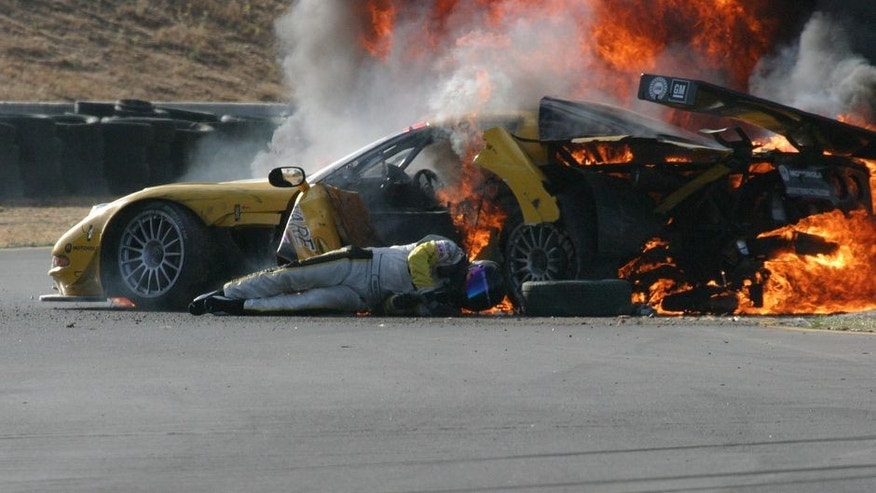 Fiery Car Crash Gif