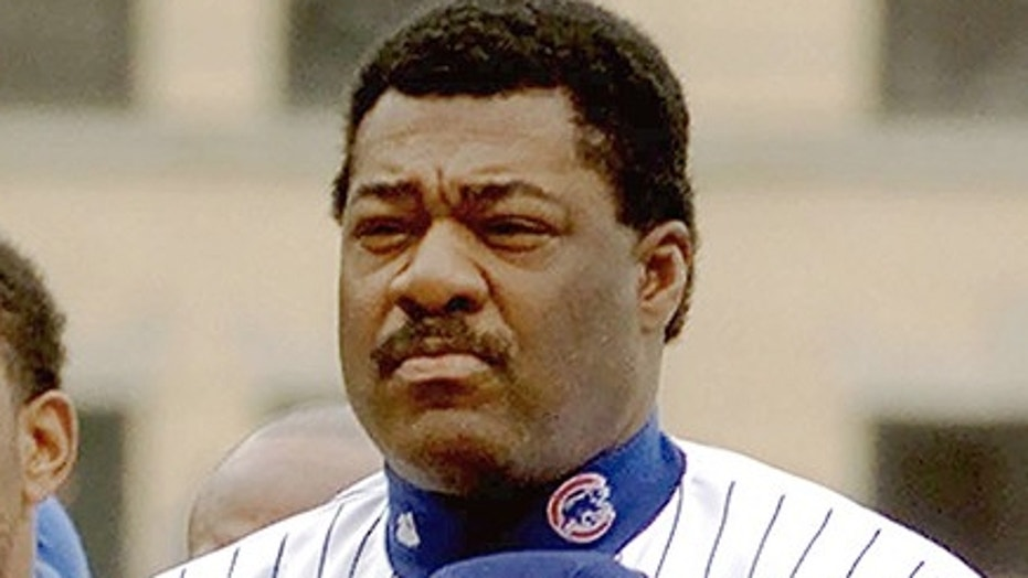 Chicago Cubs manager Don Baylor stands during the National Anthem.