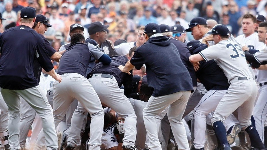 New York Yankees and Detroit Tigers players were suspended following multiple fights that broke out during Thursday's game.