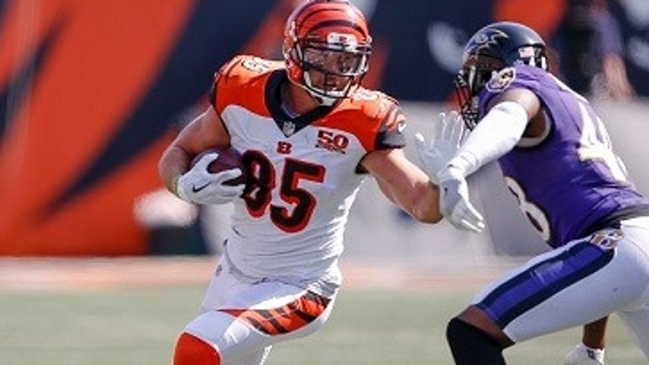Cincinnati Bengals tight end Tyler Eifert explained in an essay that he stands for the American flag because he wants to honor U.S. service members.