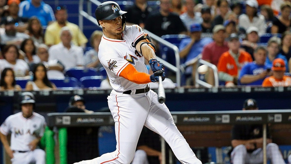 Giancarlo Stanton was named National League MVP after hitting 59 home runs in 2017.