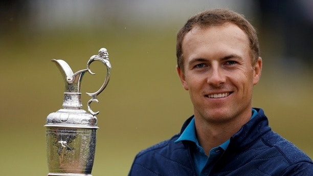 Golf - The 146th Open Championship - Royal Birkdale - Southport, Britain - July 23, 2017  USAÕs Jordan Spieth celebrates with The Claret Jug after winning The Open Championship   REUTERS/Andrew Boyers     TPX IMAGES OF THE DAY - RC1791626E30