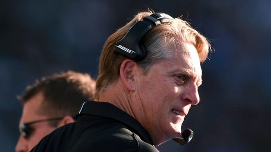 Oakland Raiders head coach Jack Del Rio was fired on Sunday.