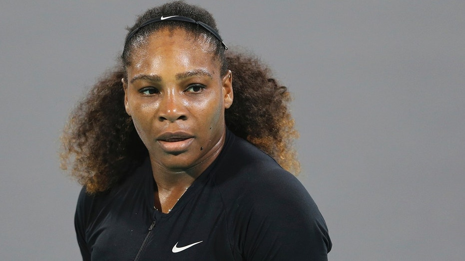 Serena Williams seen on the final day of the Mubadala World Tennis Championship in Abu Dhabi, Dec. 30, 2017.