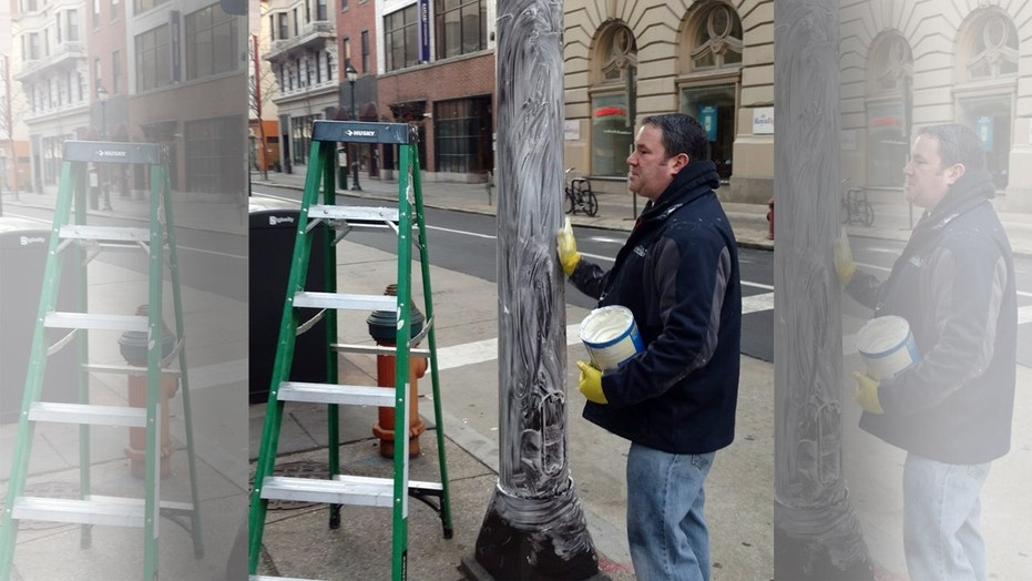 Crews in Philadelphia are greasing the light poles with Crisco to prevent Eagles fans from climbing up after the NFC Championship Game.