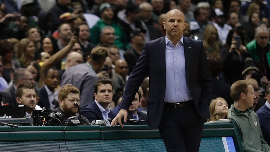 The Milwaukee Bucks fired head coach Jason Kidd, seen here on January 17.