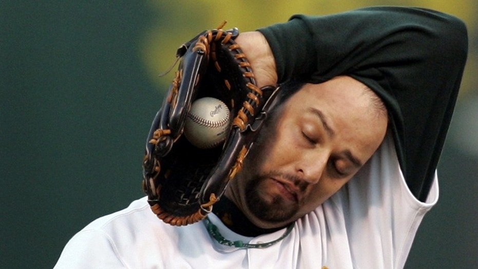 Pitcher Esteban Loaiza was arrested on Friday on suspicion of possessing more than 44 pounds of heroin or cocaine, jail records stated.