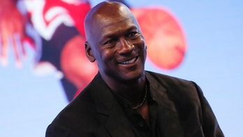 Former basketball great Michael Jordan delivers a speech as he attends a party celebrating the 30th anniversary of the Air Jordan shoe line in Paris, France June 12, 2015.   REUTERS/Gonzalo Fuentes - PM1EB6C1FCQ01