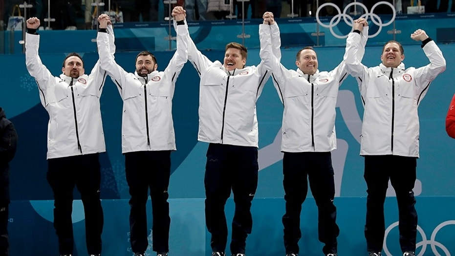 The American men's curling team, which scored gold medals in the Olympics, was accidentally given the women's winners medals.