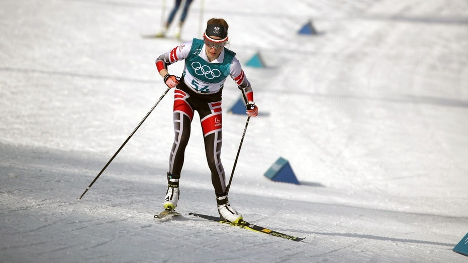 Teresa Stadlober of Austria competes in the women's 10 km free cross-country race during the Winter Olympics in Pyeongchang. She finished ninth in that event as well.