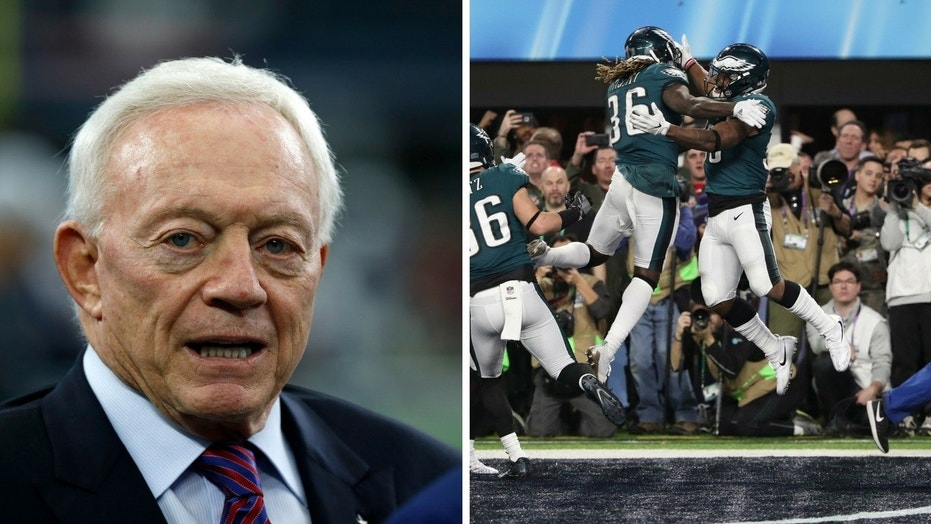 Jerry Jones reveals he was rooting for the Philadelphia Eagles to win the Super Bowl game.