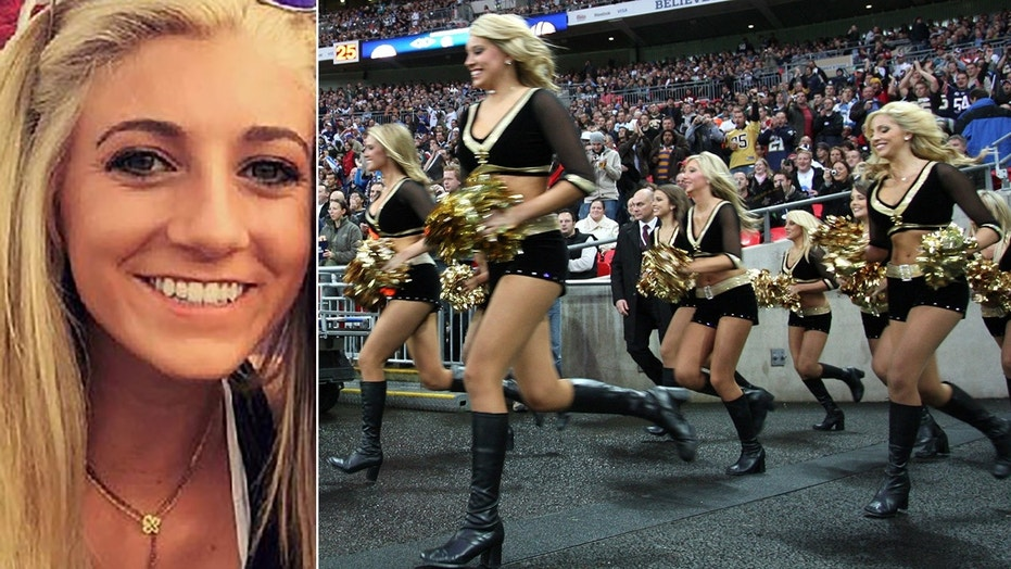 Bailey Davis, 22, left, claims the New Orleans Saints holds cheerleaders and players to separate standards.
