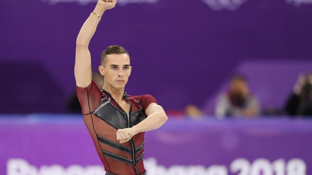 Figure Skating – Pyeongchang 2018 Winter Olympics – Men Single Skating short program competition – Gangneung Ice Arena - Gangneung, South Korea – February 16, 2018 - Adam Rippon of the U.S. performs. REUTERS/Lucy Nicholson - DEVEE2G0BCMTG