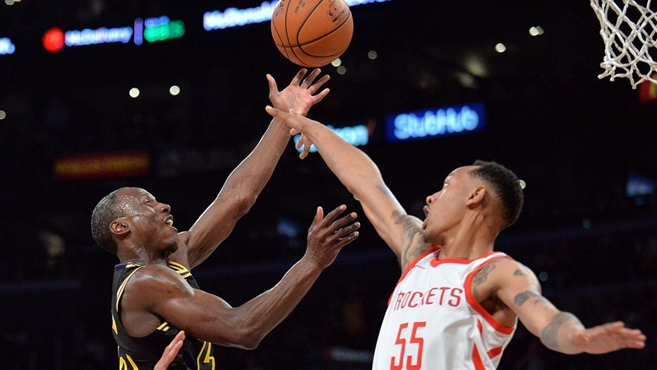 Los Angeles Lakers guard Andre Ingram scored 19 points in his NBA debut against the Houston Rockets.