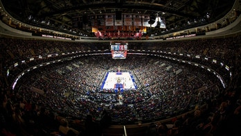 Nov 5, 2016; Philadelphia, PA, USA; General view of the the crowd and interior of Wells Fargo Center during game action between the Philadelphia 76ers and the Cleveland Cavaliers. The Cleveland Cavaliers won 102-101.  Mandatory Credit: Bill Streicher-USA TODAY Sports - 9656956