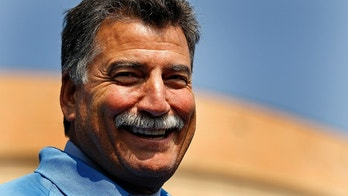 Former New York Mets All-Star Keith Hernandez smiles prior to having his moustache shaved for charity in front of CitiField in New York, September 27, 2012.   REUTERS/Adam Hunger  (UNITED STATES - Tags: SPORT BASEBALL HEADSHOT) - GM1E89S018E01