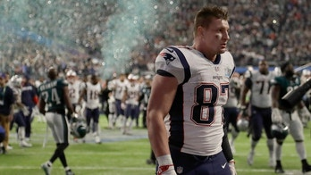 New England Patriots' Rob Gronkowski walks off the field after the NFL Super Bowl 52 football game against the Philadelphia Eagles Sunday, Feb. 4, 2018, in Minneapolis. The Eagles won 41-33. (AP Photo/Chris O'Meara)