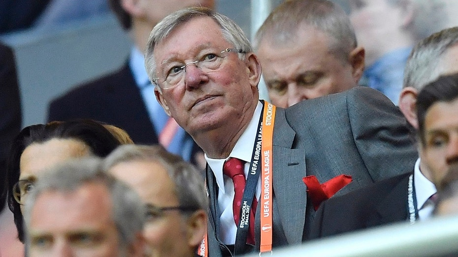 In this file photo dated Wednesday, May 24, 2017, Former Manchester United manager Alex Ferguson, during a Europa League final against Ajax Amsterdam at the Friends Arena in Stockholm, Sweden.