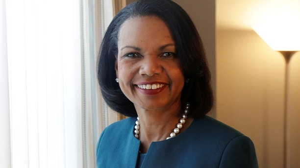 "Former U.S. Secretary of State Condoleezza Rice poses for a portrait while promoting her new book ""Democracy: Stories from the Long Road to Freedom"" in New York, U.S., May 8, 2017. REUTERS/Lucas Jackson - RC1CD0A8A7E0"