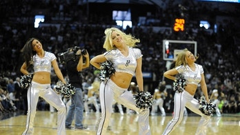 May 4, 2014; San Antonio, TX, USA; The San Antonio Spurs Silver Dancers perform against the Dallas Mavericks in game seven of the first round of the 2014 NBA Playoffs at AT&T Center. San Antonio beat Dallas 119-96. Mandatory Credit: Brendan Maloney-USA TODAY Sports - 7899477