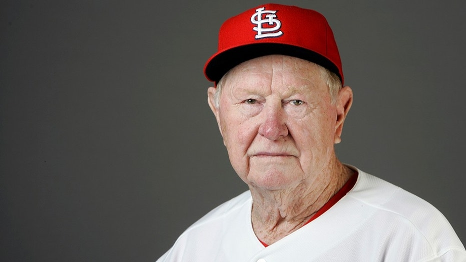 Red Schoendienst, seen here in 2009, died Wednesday.