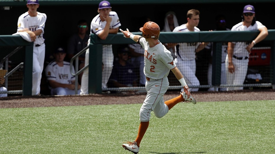 Kody Clemens celebrates a home run against Tennessee Tech.