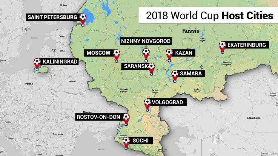 2018 FIFA World Cup games will take place in 12 different stadiums across Russia.