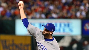 Jun 16, 2018; St. Louis, MO, USA; Chicago Cubs relief pitcher Brandon Morrow (15) pitches during the ninth inning against the St. Louis Cardinals at Busch Stadium. Mandatory Credit: Jeff Curry-USA TODAY Sports - 10897545