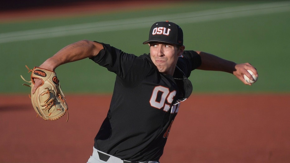 Luke Heimlich has led Oregon State to the brink of the college baseball national championship in his senior season.