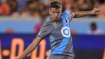 September 30, 2017: Minnesota United midfielder Collin Martin (17) takes a shot on goal during a Major League Soccer game between Houston Dynamo and Minnesota United at BBVA Compass Stadium in Houston, TX. Chris Brown/CSM (Cal Sport Media via AP Images)