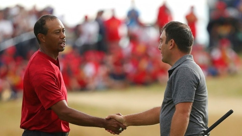 tiger woods on prowl at the british open  closes on