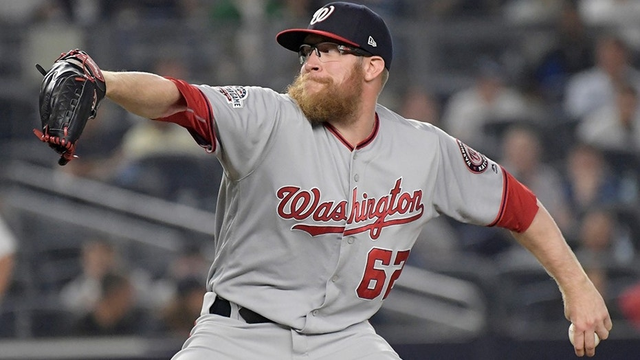 Washington Nationals relief pitcher Sean Doolittle, seen here in June 2018, offered advice to MLB players over potentially damaging tweets.