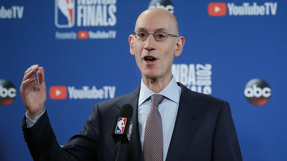 NBA Commissioner Adam Silver speaks to the media before Game 1 of the NBA Finals in Oakland this past May.