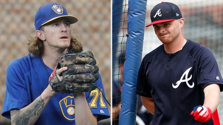 Milwaukee Brewers reliever Josh Hader (left) and Atlanta Braves pitcher Sean Newcomb (right) were blasted over the weekend after a pair of Twitter users exposed offensive tweets made by the players years ago.