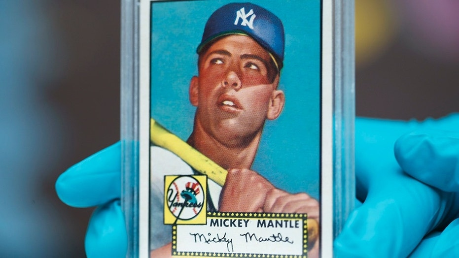 Two New Jersey brothers found five Mickey Mantle cards similar to this in their old collection.