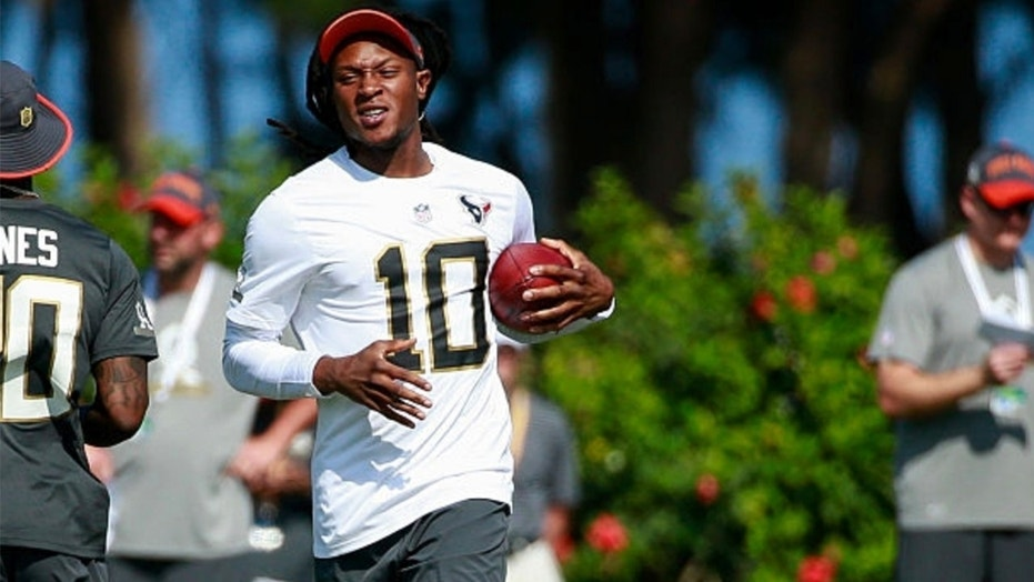 DeAndre Hopkins was involved in a practice melee Wednesday.