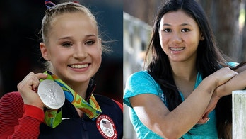 "FILE - In this Aug. 14, 2016, file photo, United States' Madison Kocian, displays her silver medal for the uneven bars during the artistic gymnastics women's apparatus final at the 2016 Summer Olympics in Rio de Janeiro, Brazil. Olympic gold-medal winning gymnasts Kyla Ross and Madison Kocian say they are among the sexual abuse victims of disgraced former USA Gymnastics doctor Larry Nassar. Kocian, a member of the ""Final Five"" that stormed to gold at the 2016 Olympics, says she was in denial for a long time but opted to come forward after watching so many of her former teammates detail their abuse at the hands of Nassar. (AP Photo/Dmitri Lovetsky, File)"