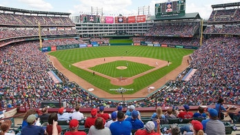 ARLINGTON, TX - MARCH 29:  A general view of the Globe Life Park during the game between the Texas Rangers and Houston Astros on Thursday, March 29, 2018 in Arlington, Texas. (Photo by Cooper Neill/MLB Photos via Getty Images)