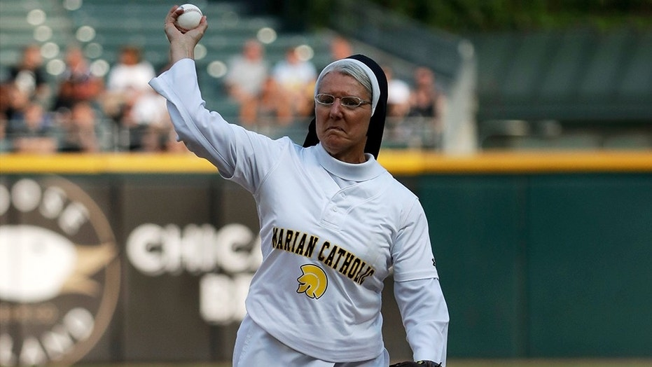 Hand of God? Nun Throws Perfect First Strike at MLB Game