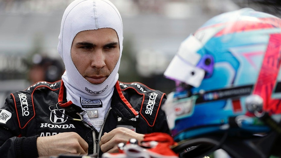 Aug. 18: Robert Wickens prepares to qualify for Sunday's IndyCar series auto race.