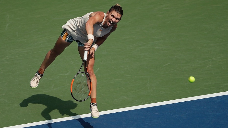 Seeded Simona Halep makes history with first-round US Open loss